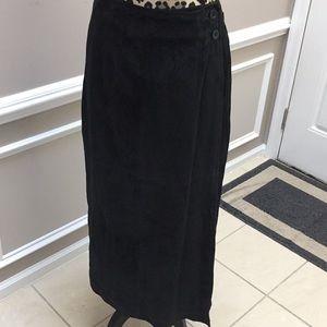 Dennis Basso leather skirt